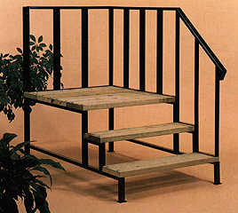 Mobile Home Stairs 12 Gauge Steel 1 Grade Decking Electrostatic